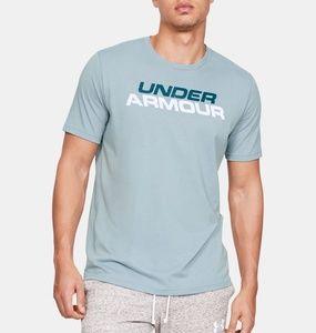UNDER ARMOUR - Short Slv Stacked Wordmark/Blue/XXL